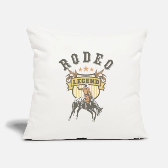 "Cowboy Pillow Cases - Western Rodeo - Throw Pillow Cover 18"" x 18"" natural white"