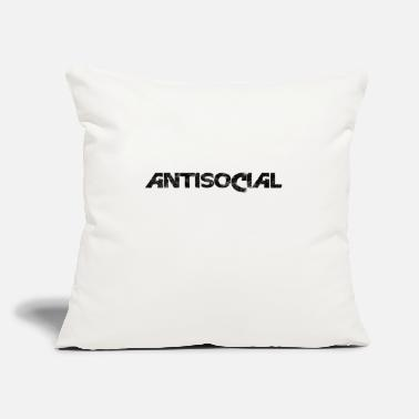"Antisocial ANTISOCIAL - Throw Pillow Cover 18"" x 18"""