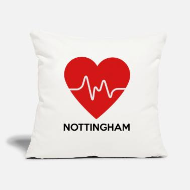 "Nottingham Heart Nottingham - Throw Pillow Cover 18"" x 18"""