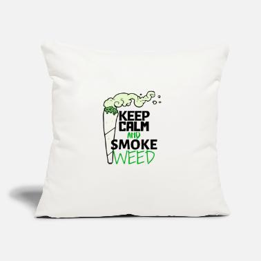"Weed Keep Calm and smoke Weed - Throw Pillow Cover 18"" x 18"""