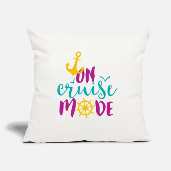 "Cruise Pillow Cases - On Cruise Mode - Throw Pillow Cover 18"" x 18"" natural white"