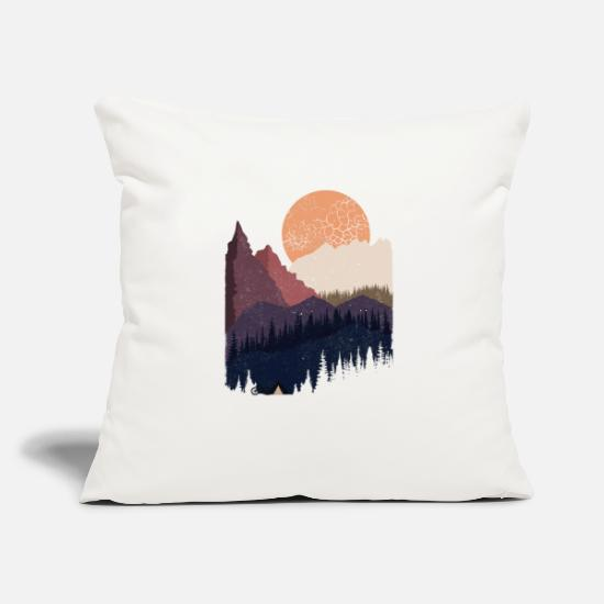 "Wild Pillow Cases - Be Wild - Throw Pillow Cover 18"" x 18"" natural white"