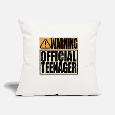"Teenager A Birthday Tee Warning! Official Teenager - Throw Pillow Cover 18"" x 18"""