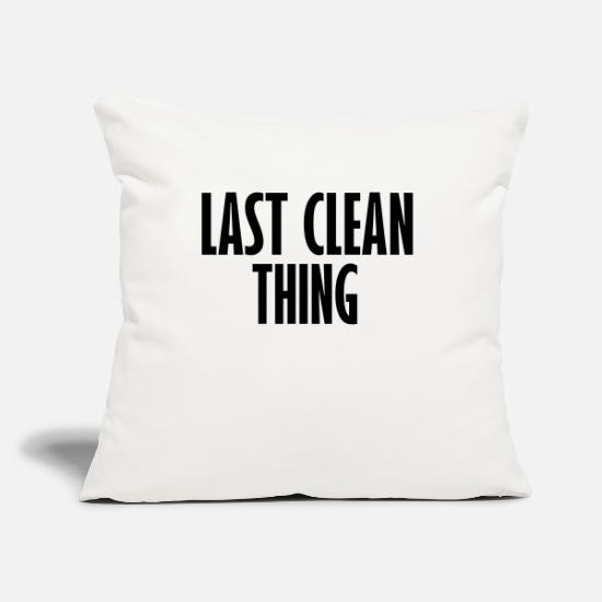 "Clean Pillow Cases - last clean thing - Throw Pillow Cover 18"" x 18"" natural white"