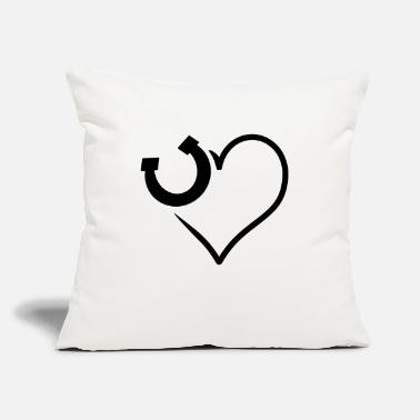 "Horseshoe horseshoe - Throw Pillow Cover 18"" x 18"""