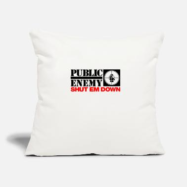 "Public Viewing Public enemy - Throw Pillow Cover 18"" x 18"""