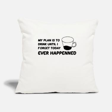 "Humour My plan Humour - Throw Pillow Cover 18"" x 18"""