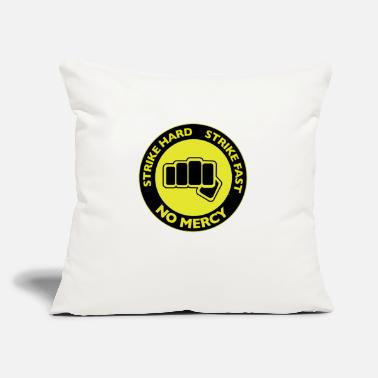 "Strike Strike Hard Strike Fast - Throw Pillow Cover 18"" x 18"""