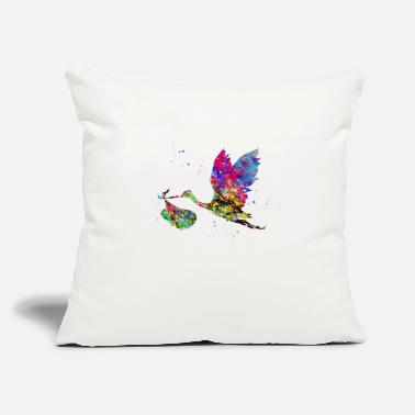 "Stork Stork - Throw Pillow Cover 18"" x 18"""