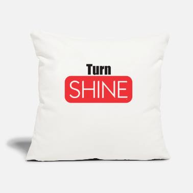 "Turn Table Turn Shine - Throw Pillow Cover 18"" x 18"""