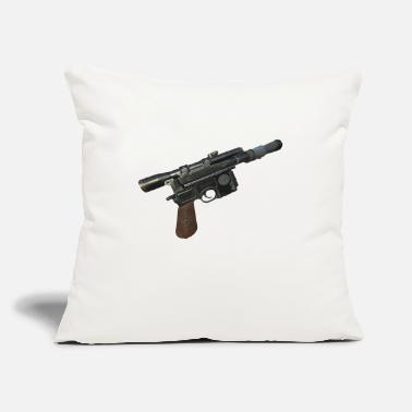 "Dl-44 Han Solo's DL 44 Blaster - Throw Pillow Cover 18"" x 18"""