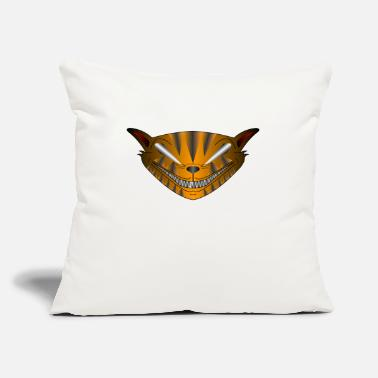 "Jagged Cool Jag Cat Shirt - Throw Pillow Cover 18"" x 18"""