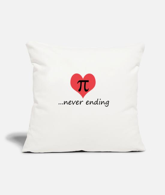 "Love Pillow Cases - Pi - Throw Pillow Cover 18"" x 18"" natural white"