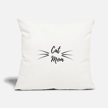 "Cat Mom Cat Mom - Throw Pillow Cover 18"" x 18"""
