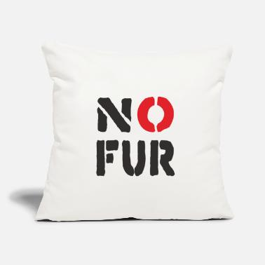 "Fur No Fur - Throw Pillow Cover 18"" x 18"""