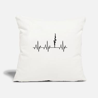"Heartbeat Gymnastics Gymnast Acrobatics Fitness - Throw Pillow Cover 18"" x 18"""