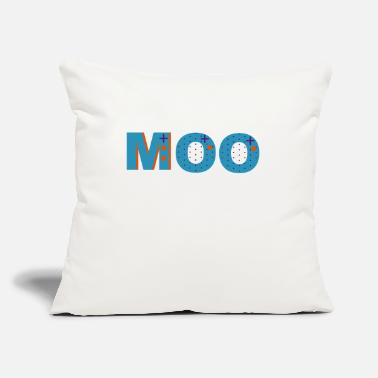 "Moo Moo - Throw Pillow Cover 18"" x 18"""