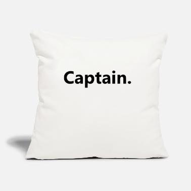 "Captain Captain. - Throw Pillow Cover 18"" x 18"""