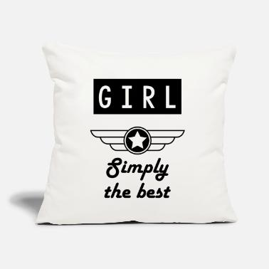 "Macho Simply the best Girl - Throw Pillow Cover 18"" x 18"""
