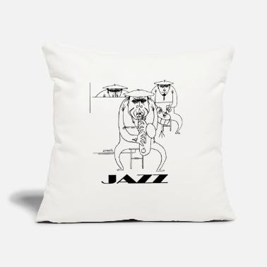 "Jazz players - Throw Pillow Cover 18"" x 18"""