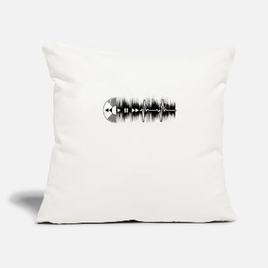 Dj Vinyl Junkie Vinyl Heartbeat ECG Gift - Throw Pillow Cover