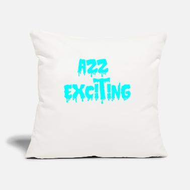 "Excited exciting - Throw Pillow Cover 18"" x 18"""