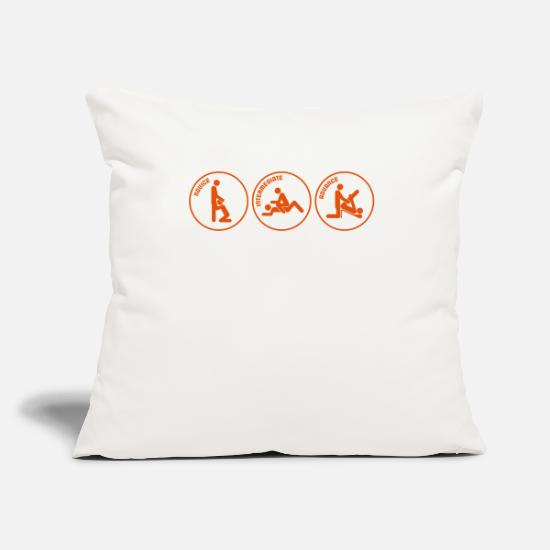 "Desire Pillow Cases - High School Sex Instructor. Ask For Your Free Test - Throw Pillow Cover 18"" x 18"" natural white"
