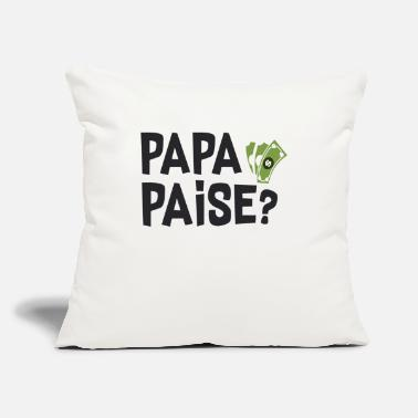"Moneygrubbing Papa paise - Throw Pillow Cover 18"" x 18"""