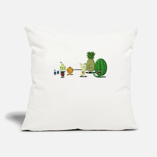 "Fruit Pillow Cases - Mean Fruit - Throw Pillow Cover 18"" x 18"" natural white"