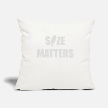 "Size Size Matters - Throw Pillow Cover 18"" x 18"""