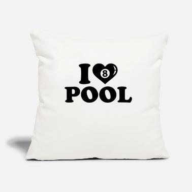 "Pool Lover pool lover - Throw Pillow Cover 18"" x 18"""