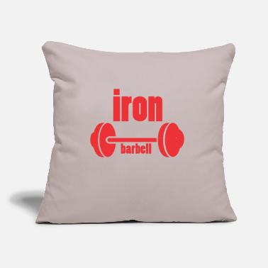 "Iron iron barbell - Throw Pillow Cover 18"" x 18"""