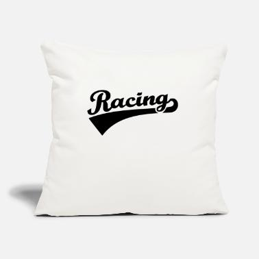 "Racing RACING - Throw Pillow Cover 18"" x 18"""