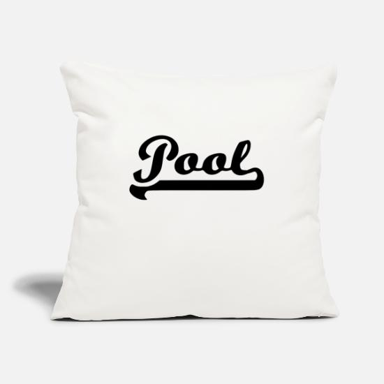 "Snooker Pillow Cases - pool - Throw Pillow Cover 18"" x 18"" natural white"
