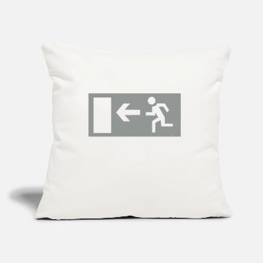 "Emergency Emergency Exit - Throw Pillow Cover 18"" x 18"""