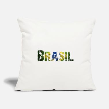 "National Colours Brasil - National Colours - Flag - Rio de Janeiro - Throw Pillow Cover 18"" x 18"""