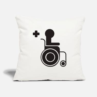"Sit sitting in a wheelchair - Throw Pillow Cover 18"" x 18"""