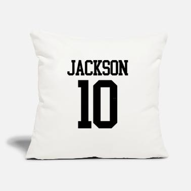 "Jersey Number Jackson Jersey Number (black) - Throw Pillow Cover 18"" x 18"""