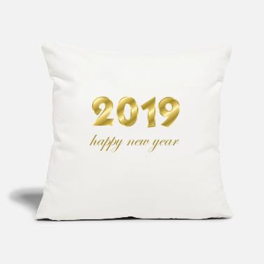 "Production Year happy new year 2019 products - Throw Pillow Cover 18"" x 18"""