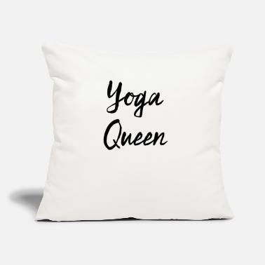 "Funny Yoga Yoga Queen - Funny Yoga Gift - Funnyift - Throw Pillow Cover 18"" x 18"""