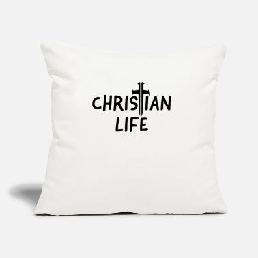 "Jesus Jesus Christ Jesus Christ Jesus Christ Jesus Jesus - Throw Pillow Cover 18"" x 18"""