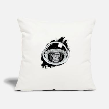 "Black And White Collection Space monkey Black and white Art - Throw Pillow Cover 18"" x 18"""