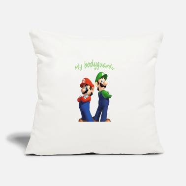 "Mario Characters Mario and luigi bodyguards - Throw Pillow Cover 18"" x 18"""