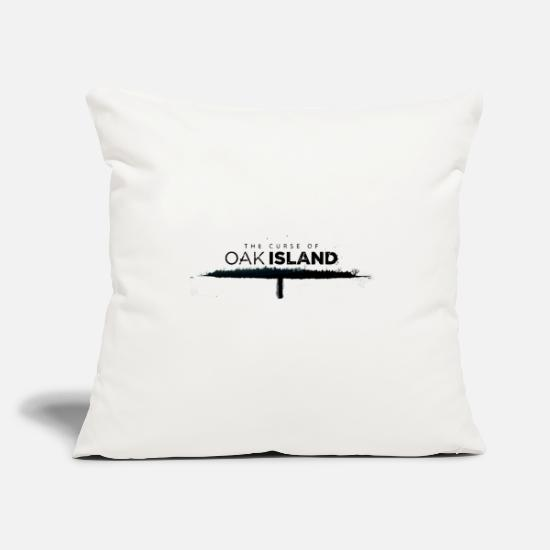 "Oak Pillow Cases - The curse of oak island - Throw Pillow Cover 18"" x 18"" natural white"
