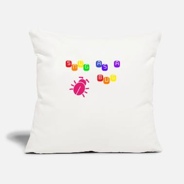"Snug as a Bug - Throw Pillow Cover 18"" x 18"""