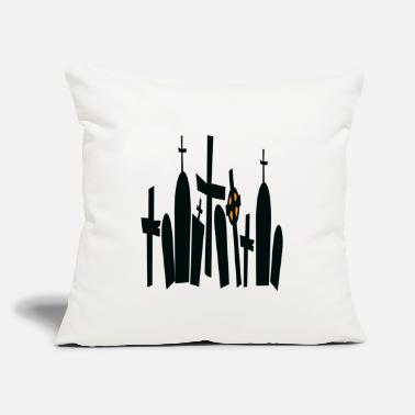 "Grave Frightening graves - Throw Pillow Cover 18"" x 18"""