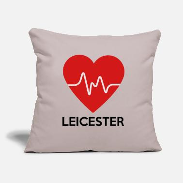 "Leicester Heart Leicester - Throw Pillow Cover 18"" x 18"""