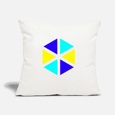"Triangle TRIANGLE - Throw Pillow Cover 18"" x 18"""