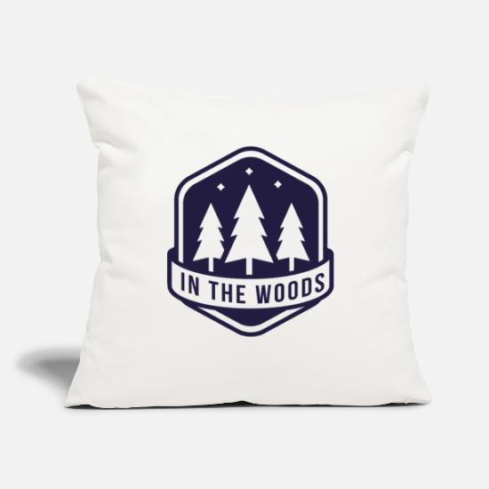"Rocky Mountains Pillow Cases - Wilderness Wild Survival Camping saying outdoors - Throw Pillow Cover 18"" x 18"" natural white"
