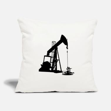 "Oil Oil Pump HD Design - Throw Pillow Cover 18"" x 18"""